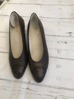 VINTAGE MILADY BROWN LEATHER COURT SHOES SIZE 5 UK 38 EU