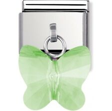 Nomination Charm Swarovski Green Butterfly RRP £25