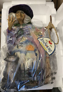 "Jim Shore ~ Witch with Crystal Ball ~ ""What Do I See"" Figurine //NIB// 9"""