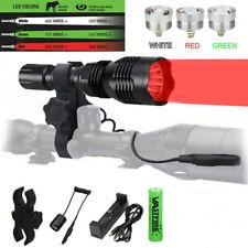 Jagd Taschenlampe Nachtlicht rot grün weiße LED Taschenlampe USB wiederaufladbar