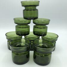 VTG Mid Century Dansk IHQ Quistgaard Denmark Green Glass Candle Holder Set of 8