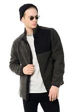 NEW Aeropostale Mens Sherpa Fleece Full-Zip Jacket Sz S/small Long Sleeves Gray