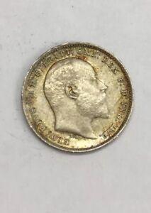 1902 Edward VII 3/Three Pence Coin Silver