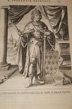 GRAVURE BELGIQUE LOTHARIUS II REX LOTHARINGIAE BRABANT VEEN COLLAERT 1623 R975