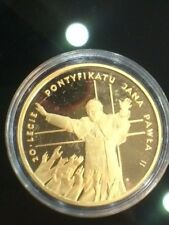 200 zlotych 1998 Poland John Paul II,Gold Proof  coin  20th Anniversary
