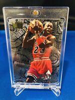 Michael Jordan RARE 96-97 FLEER METAL & NUTS & BOLTS EMBOSSED BASKETBALL CARD