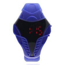 UK SELLER: Blue Kids Digital LED Wrist Watch For Men & Boys Silicone Strap SPC
