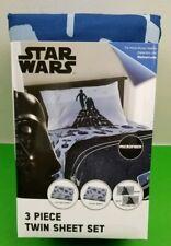 Disney Star Wars 3 Piece Twin Sheet Set Blue