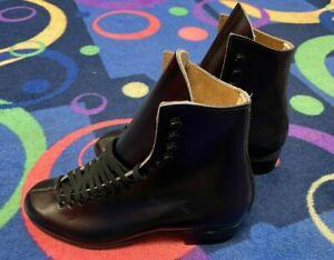 Oberhamer Black Skate Boots Size 7 1/2 (Size 7.5) - Never Used!  Been in storage