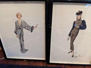 2 - Rare Signed Travilla Work of Art Fashion Design Costumes Designer Sketches