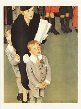 (P033) Postcard - Norman Rockwell - An Audience of One