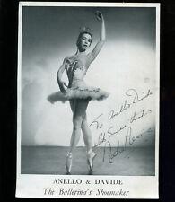 Ballet Nadia Nerina Ballerina Signed Advertising Card Anello & Davide Shoemaker