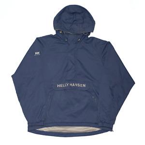 HELLY HANSEN Blue Regular Hooded Pullover Jacket Mens M