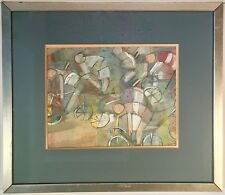 Listed Artist Bruno Aschieri (1906-1991) Signed Gouache On Paper w/ Provenance