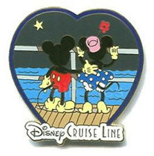 Mickey Minnie Honeymoon Love Heart Deck Anniversary DCL Disney Cruise Line Pin