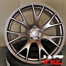 "20"" Hellcat Style Wheels Matte Bronze Rims Fits Dodge Magnum Charger Challenger"