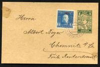 BOSNIA HERZEGOVINA to GERMANY 1919 postal stationery + aditional stamp - VF