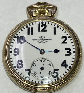 1930 Ball-Hamilton Pocket Watch - 999P 21J