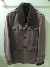 Dolce & Gabbana Jacket w/Removable Lining Jacket w Shearling Collar Size 52 Used