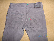 l LEVIS 511 sKiNnY gray DOUBLE BACK POCKET 28 x 28