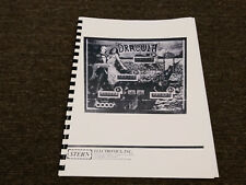 Dracula Pinball Manual with Full-Size, Fold-Out Schematics