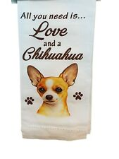 E&S Pets 700-10 Chihuahua, Tan Kitchen Towels, Off-white