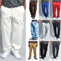 G-Style USA Men's Jogger Heavy Weight Fleece Cargo Pocket Sweat Pants S~6XL-FL77