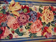 "DOUBLE Bay Window Curtain Valance Rose Garden French Country 5th Avenue 8""x104""L"