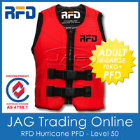 RFD HURRICANE ADULT XL 70+KG PFD2 LIFE JACKET 50N - Level 50 Lifejacket/Vest