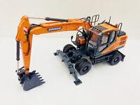 Universal hobbies 1/50 Doosan DX140W Wheeled Excavator Diecast Model UH8108