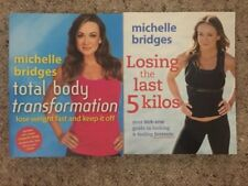 2x Michelle Bridges Books Total Body Transformation & Losing The Last 5 Kilos