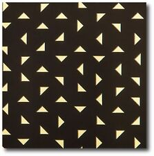 """Black Matte with Gold Foil Diamonds Gift Wrap - 20 ft Roll - 30"""" wide - 50 Sq Ft"""