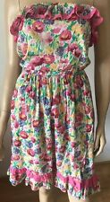 NEW LOOK Multi Floral Print Bandeau Frill Summer Party Dress Size 10