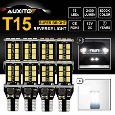8pcs 921 912 T15 Backup Reverse Light CANBUS LED 6000K Super White Bulbs Lamp