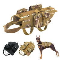 Tactical Military Molle Dog Harness k9 Training Vest with Detachable Pouches XL