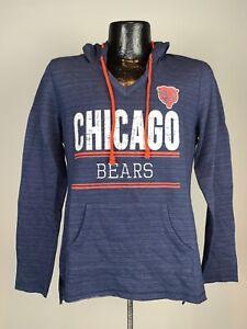 Women's Majestic Fan Fashion Chicago Bears V-Neck Sweatshirt Medium NWOT Cotton