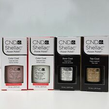 CND Shellac French Manicure Kit. Set of BASE ,TOP COAT,PINK AND WHITE 0.25 oz