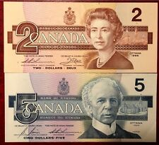 1986 Canada Paper Money P94 P95c Uncirculated