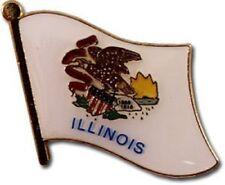 State Of Illinois Petit Drapeau Vélo Moto Chapeau Bonnet Épinglette