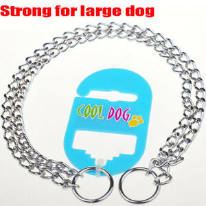 STRONG For Large Dog Collar Pet Metal Double Chain P-Snake Chain Pet Supplies