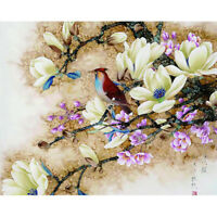 Chinese Flower Bird Art Paint By Numbers Kit DIY Oil Painting On Canvas