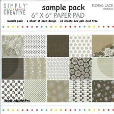 Simplemente creativo papeles de Encaje Floral 6 X 6 paquete de muestra-Natural - 15 Hojas