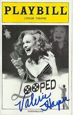 Valerie Harper signed Looped Playbill rhoda
