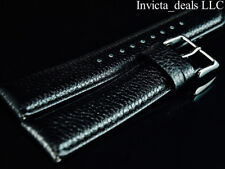 Invicta Lupah Genuine Leather 24mm Jet Black Replacement Strap AUTHENTIC