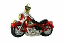 Old World Christmas 46008 Glass Blown Motorcycle Ornament