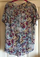 South Gorgeous Boho Floaty Tunic Top, Size 16 - Fab!