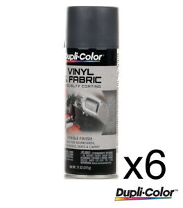 6 x Dupli-Color Vinyl & Fabric Paint Charcoal Grey 311g - HVP111