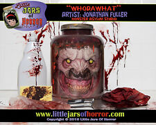 """WhoDaWhat"" Head in Jar - Halloween/Horror Prop/Decor-  Fresh Red Version"