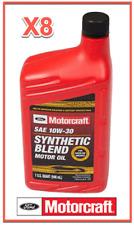 8 Qt. Engine Motor Oil OEM FORD MOTORCRAFT XO10W30QSP SAE 10W-30 Synthetic Blend