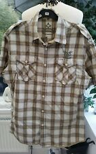 Firetrap Sz  Large Checked Shirt ~ DREDRICK ~ Yellow & Grey VGC